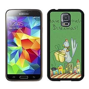 Popular Design Christmas Bird Black Samsung Galaxy S5 Case 1