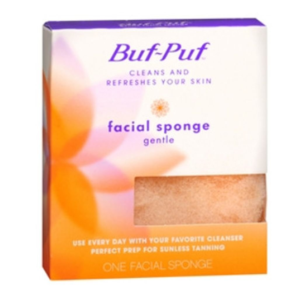 Buf-Puf Facial Sponge, Regular 1 ea(pack of 6) Reusable Silicone Moisturizing Mask for Sheet Mask by By Smm