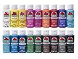 Arts & Crafts : Apple Barrel Acrylic Paint Set, 18 Piece (2-Ounce), PROMOABI Assorted Colors I