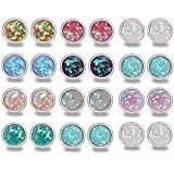 Anni Coco 12 Pairs Stainless Steal Colorful Shining Round Stud Earrings For Girls Teens(0.31 inch)