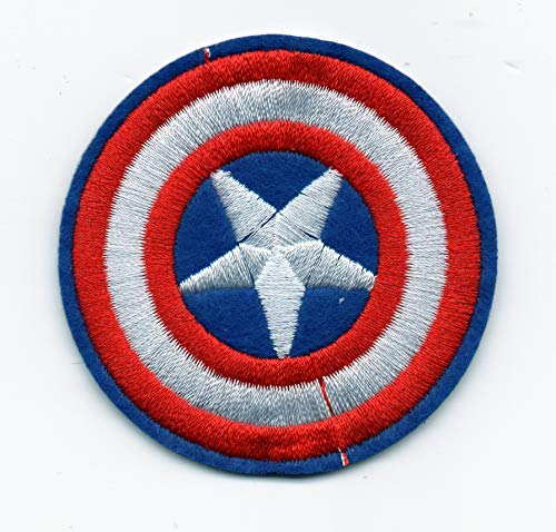 Patch Shield Captain America Tactical Patrol Jacket Coat Bag Child Dress Shirt Skirt Purse Pant Vest Polo Motorcycle Biker New Jacket Size Badge Logo Embroidered Applique Iron On Sew Bestdeahere (1)