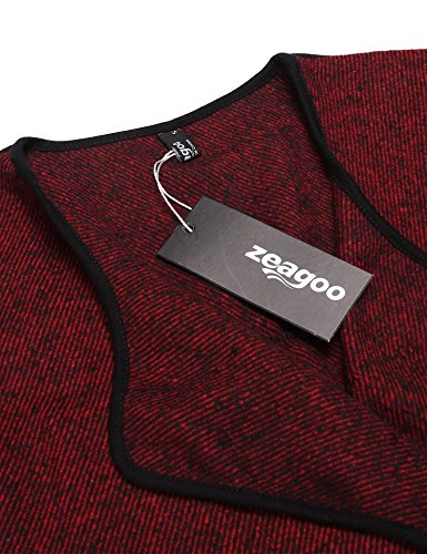Three Outerwear On Jacket Zeagoo Red Length Womens Ladies Quarter Coat Spring Pull Autumn Blazer Sleeves Street Vintage Short Lapel Casual wPUAYqxUI