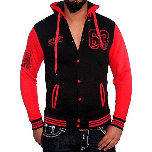 Rusty Neal R de Neal Hoodie Oldschool College con capucha chaqueta sudadera 6876–�?) Grautöne
