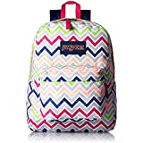 JanSport Mens Superbreak Back Pack Cyber Pink Summer Chevron One Size