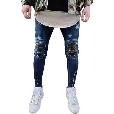 Pesos Pesados Pantalones Pitillo Negros Jeans Hombres ...
