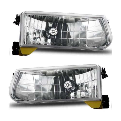SPPC Headlights Crystal Assembly Set for Ford Explorer / Mountaineer- (Pair) Includes Driver Left and Passenger Right Side Replacement Headlamp Clear Lenses