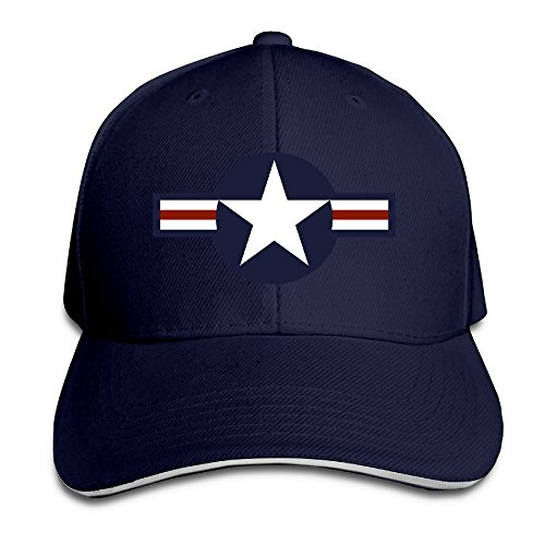 PAWJN Classic Roundel Of The USAF Baseball Caps Adjustable Sandwich Caps ()