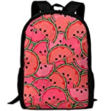 Watermelon Background Double Shoulder Backpacks For Adults Traveling Bags Full Print Fashion