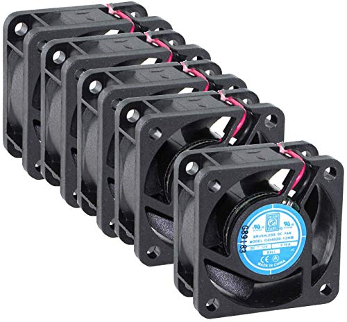 (x5) Orion Fans OD4020-12HB| 12 VDC | 40x40x20 mm | 9 CFM | 36dBA | 7800 RPM | .1 Amps| Wire Leads | Crosses with CR0412HB-C50 (Comair-Rotron), 1608KL-04W-B50 (NMB) and KD1204PKB1 (Sunon)
