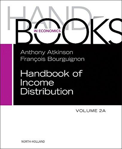 Handbook of Income Distribution, Vol 2A, Volume 2A (Handbook in Economics)