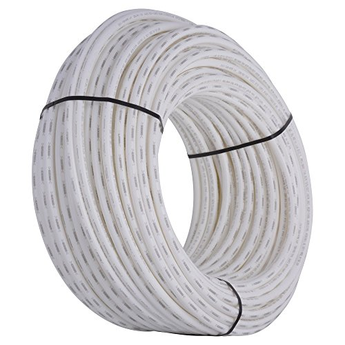 Pex Tubing White (SharkBite PEX Pipe Tubing 3/4 Inch, White, Flexible Water Tube, Potable Water, U870W500, 500 Foot Coil)