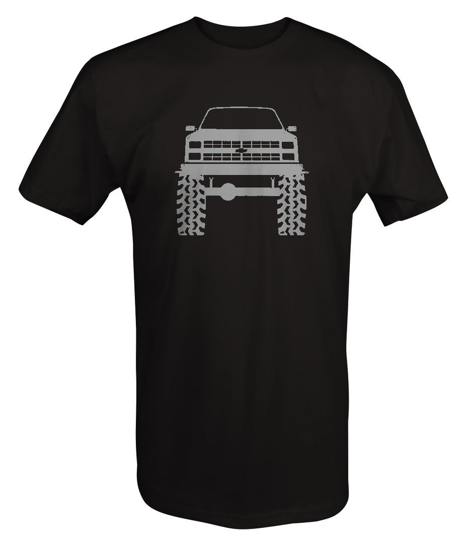 Stealth - 1980's 90's Chevy K5 Blazer Lifted Mud Tires Truck T shirt - Large