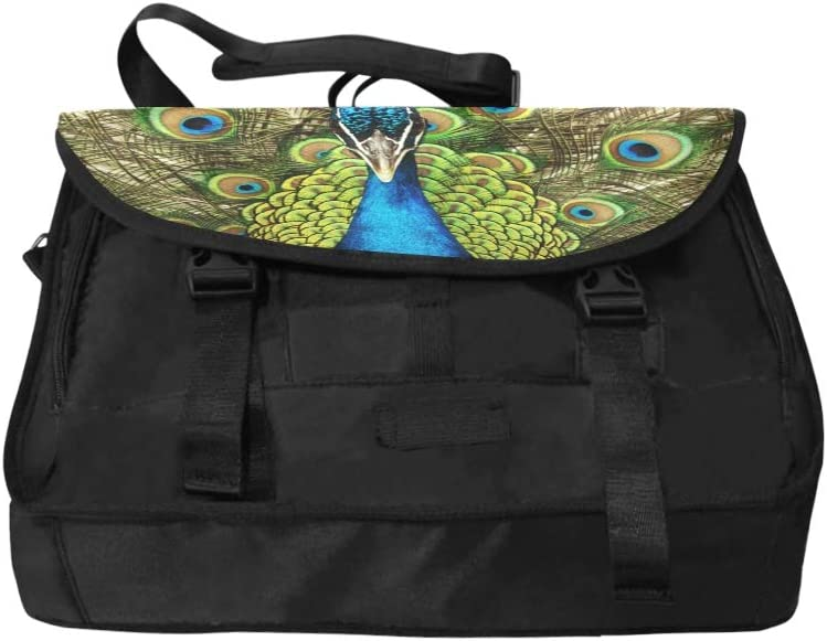 Laptop Bags for Girls Classical Fashion Embroidery Beautiful Peacock Multi-Functional Cute Satchel Handbags for Women Fit for 15 Inch Computer Notebook MacBook