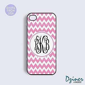 Monogram iPhone 5c Case - Pink Chevron Cute iPhone Cover