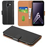 Aicoco Galaxy A6 2018 Case Flip Cover Leather Wallet Phone Case for Samsung Galaxy A6 2018 - Black