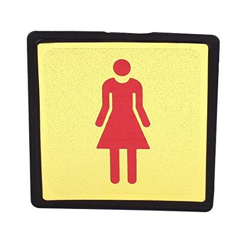 WC des toilettes Femmes Sexe Autocollant de Signe Decal ton or Rouge