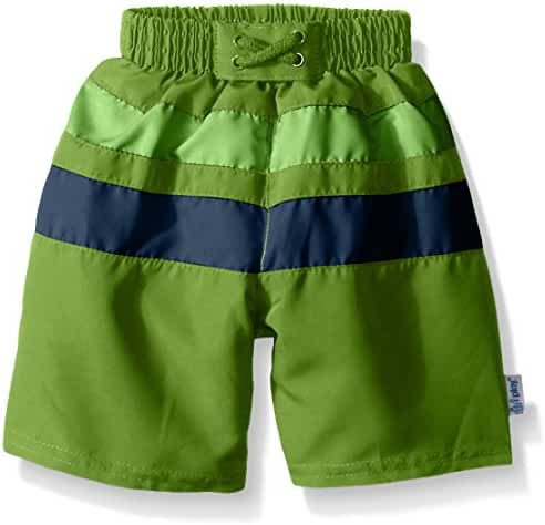 i play. Baby & Toddler Boys' Colorblock Trunks with Built-In Swim Diaper