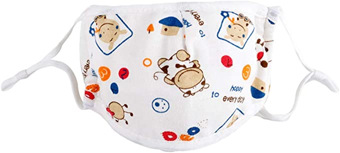 toataLOpen Protective Mouth Visor Face Cover Kids Children Cotton Cartoon Adjustable 5 Layers Anti Dustproof Mouth Calf*