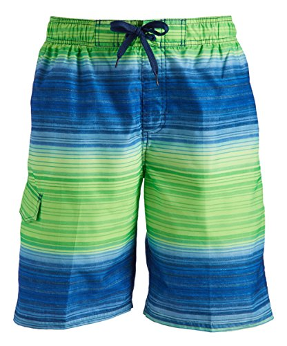 Kanu Surf Men's Miles Swim Trunks (Regular & Extended Sizes), Haywire Navy/Green, Large (Best Nvg For The Money)