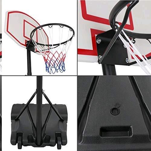 Nova Microdermabrasion Portable Basketball Hoop Stand Backboard System Adjustable-Height W/Wheels 5+ Years Kids Goal Indoor Outdoor 6.9ft (Black) by Nova Microdermabrasion (Image #6)