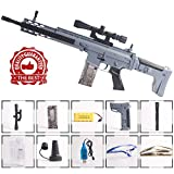 Anstoy Electric Toy Gun with Gel Ball Blaster Water for Outdoor Activities-Fighting Game as Awesome Birthday Present (Gray Blue)