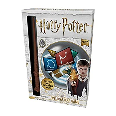 Harry Potter Spellcasters--A Charade Game with A Magical Spin - Cast Your Spell and Master Your Magic - Includes  Spellcaster Wand (Replica of Harry Potter's Wand), 32 Spell and 32 Spellcaster Cards: Toys & Games