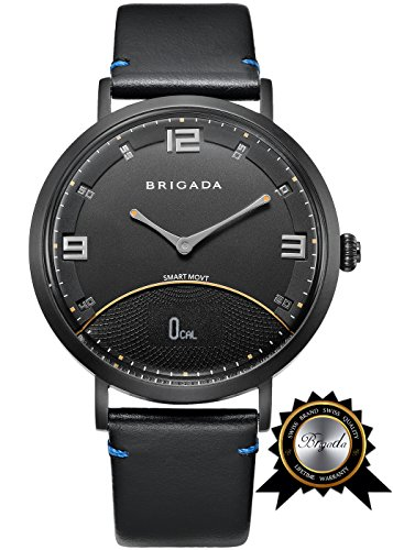 BRIGADA No-Need-Charge Smart Watch for Men, Cool Fashion Smart Watch for Android iphone, Best Innovative Smartwatch Combining Traditional Watch's Beauty with Modern Functions Like Exercise Track by BRIGADA