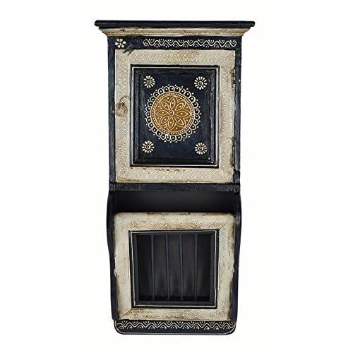 Lalhaveli Wooden Cabinet Key Holder & Key Hook Holder for Room Decor 23 X 11 X 5 Inches