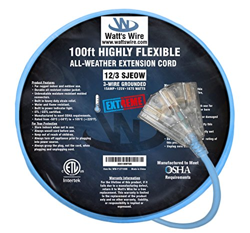 100 foot outdoor electrical cord - 8