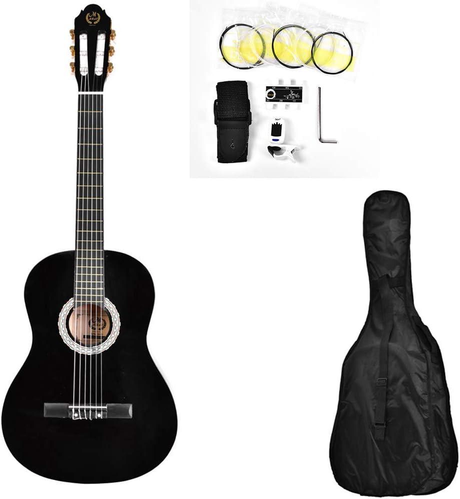 Guitarra clásica de madera, 99 cm para principiantes con bolsa de ...