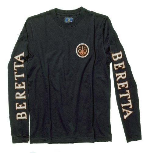 Beretta Men's Long Sleeve Shooting T-Shirt, Black, Large