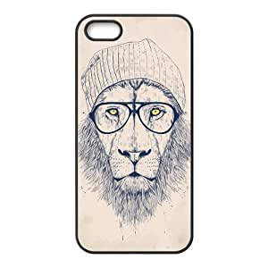 iphone 5c Protective Case - Hipster Lion Hardshell Carrying Case Cover for iphone 5c / 5c