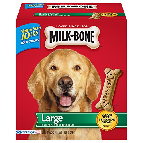 Milk-Bone Original Dog Treats for Large Dogs, 10-Pound