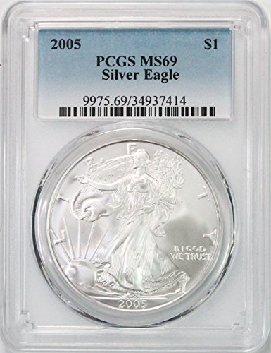 2005 American Silver Eagle $1 MS69 PCGS