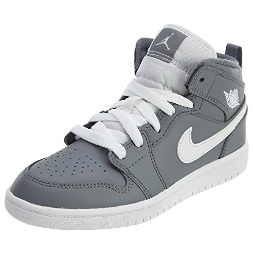 Jordan 1 Mid BP Boys Little Kids Shoes Cool Grey/White/White 640734-036 (1.5 M US) (Shoes Little Kids Jordan)