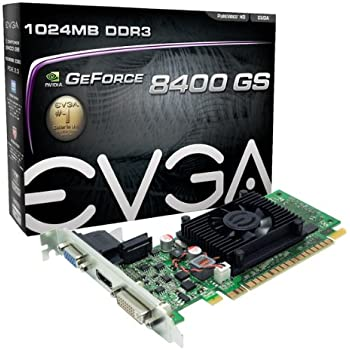EVGA GeForce 8400 GS 1024MB DDR3 PCI-E 2.0 Graphics Card DVI/HDMI/VGA 01G-P3-1302-LR