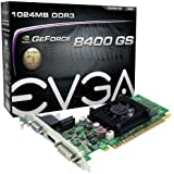 EVGA 1GB GeForce 8400 GS DirectX 10 64-Bit DDR3 PCI Express 2.0 x16 HDCP Ready Video Card Model 01G-P3-1302-LR