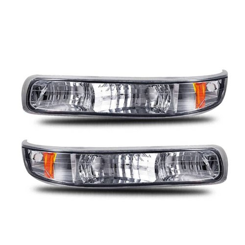 SPPC Bumper Lights Euro Clear Amber For Chevy Silverado - (Pair) Driver Left and Passenger Right Side Replacement