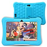 Dragon Touch Y88X Plus Kids Tablet Android 7 inch IPS Display Quad Core 1GB Ram 8GB Rom WIFI G-sensor Cameras Kidoz & Google Play Pre-Installed with Blue Case