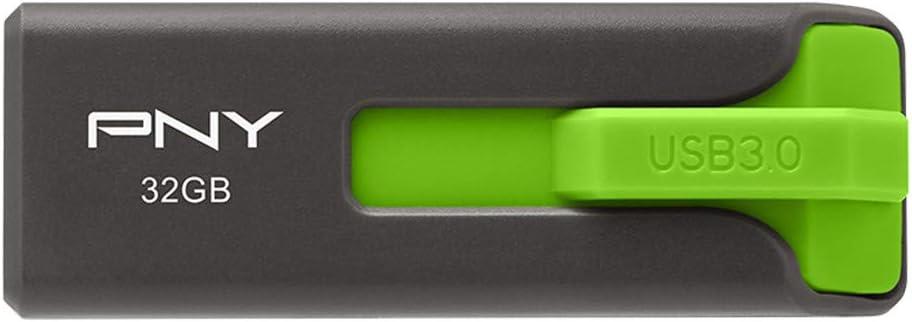 P-FD32GEL-GE Gray//Green PNY Elite Prime USB 3.0 Flash Drive 32GB