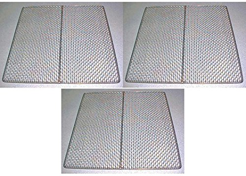 3 Excalibur Dehydrator Stainless Steel Trays Replacement UPGRADE Food Shelf Mesh (Dehydrator 2900 compare prices)