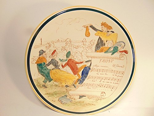 """French Reproduction Vernon Kilns FAUST, 8"""" Decorative Plate"""