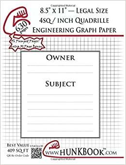 buy engineering graph paper 630pages white 4sq inch 1 4