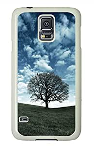 Raven Tree White Hard Case Cover Skin For Samsung Galaxy S5 I9600