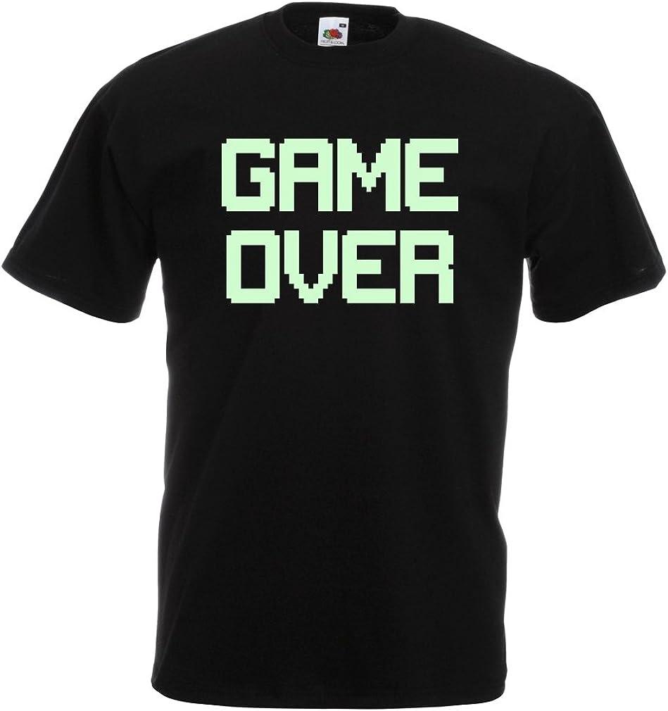 "Gameover Mens joke tee Funny t-shirt /"" Gamover /"" Pregnant funny mens tshirt"