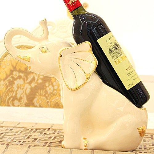 Feifei Botellas de Vino Cerámica Elefantes Forma Personalidad Vinoteca Creativa Decoración Sala de Estar Restaurante Cocina...