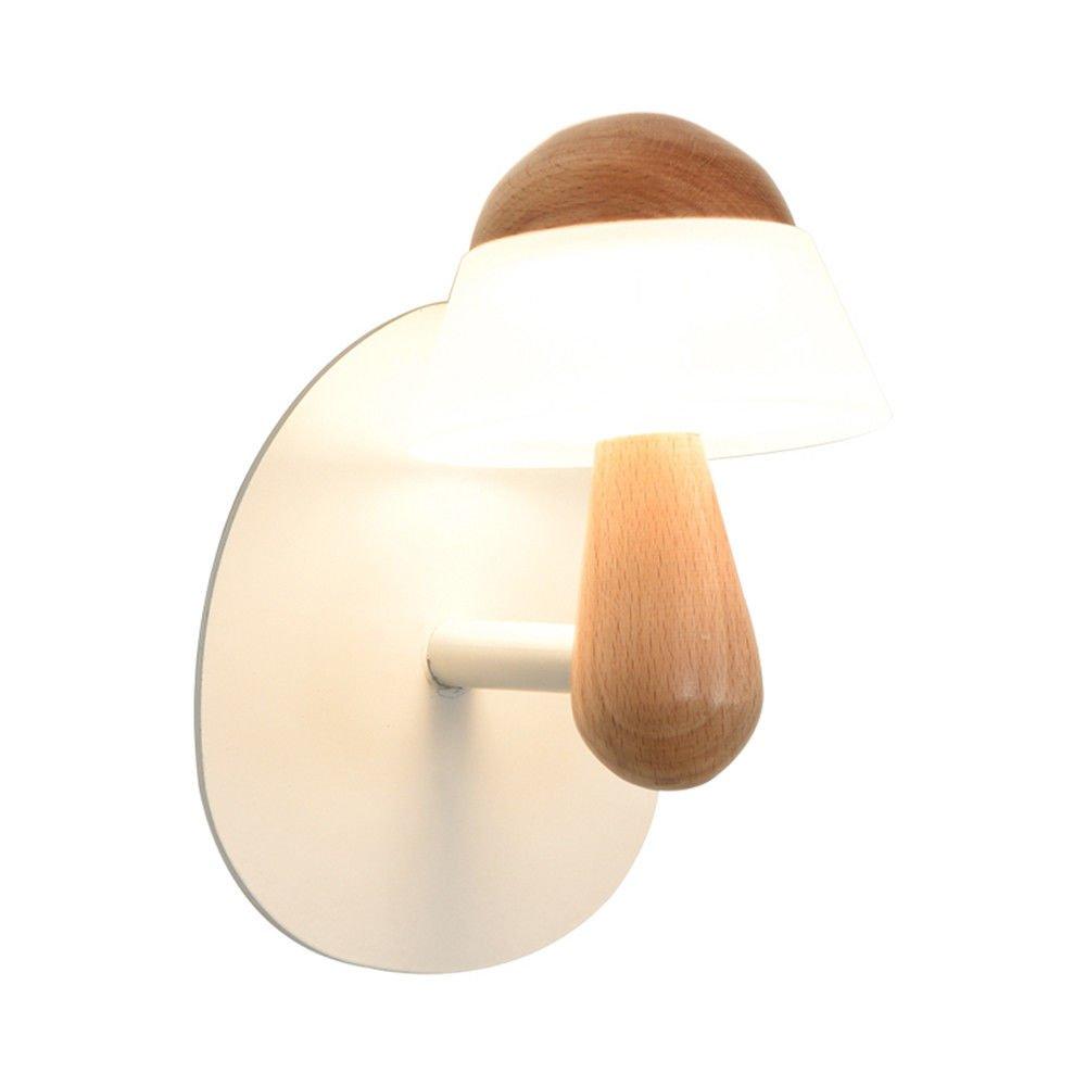 MMYNL Moderne E27 Antik Wandlampe Vintage Wandlampen Wandleuchten für Schlafzimmer Wohnzimmer Bar Flur Bad Küche Balkon Kreative Massivholz Nachttischlampe 12.6X16.7Cn Wandleuchte