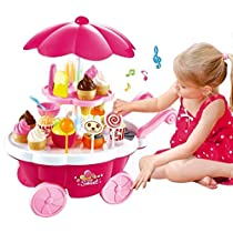 Toyshine ice cream kitchen play cart kitchen set toy