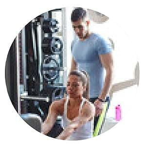 alfombrilla de ratón joven pareja en el gimnasio el ejercicio en las máquinas xtrainer - ronda - 20cm