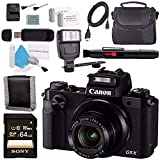 Canon PowerShot G5X G5 X Digital Camera 0510C001 + NB-13L Replacement Lithium Ion Battery + Sony 64GB SDXC Card + Carrying Case + Deluxe Cleaning Kit + Universal Slave Flash unit Bundle